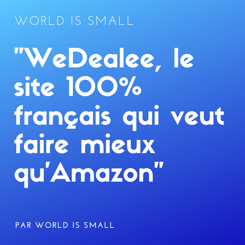 Prodealee et Wedealee - revendeur de telephone mobile neuf en France
